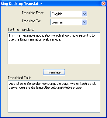 Simple Translation Application